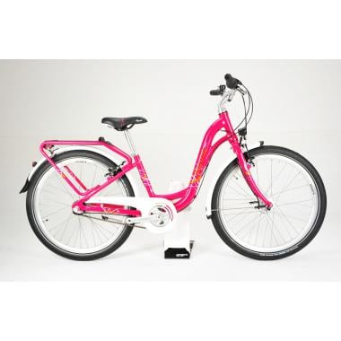 """CDA - Vélo de Ville PUKY SKYRIDE 24-3 ALU LIGHT 24"""" Rose"""