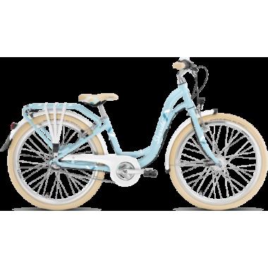 """CDA - Vélo de Ville PUKY SKYRIDE 24-3 ALU LIGHT CLASSIC 24"""" Bleu"""