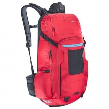 Mochila con dorsal integrada EVOC FR PROTECTOR TRAIL 18/20/22L Rojo