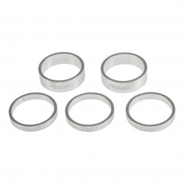 Lot d'Entretoises de Direction RITCHEY CLASSIC 1''1/8 Aluminium Argent