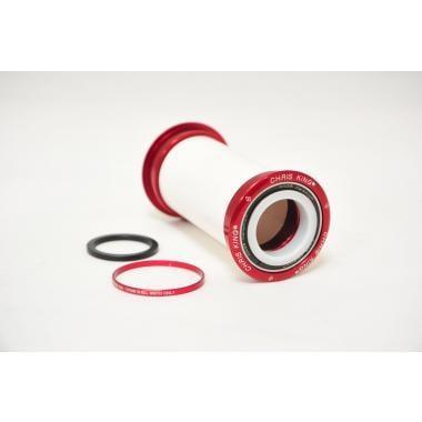 CDA - Boîtier de Pédalier CHRIS KING Press Fit Axe 24 mm Céramique Rouge