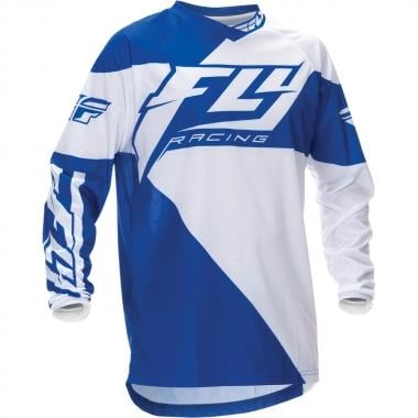 Maillot FLY RACING F-16 Enfant Manches Longues Bleu/Blanc