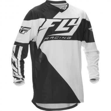 Maillot FLY RACING F-16 Enfant Manches Longues Noir/Blanc