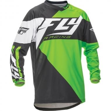 Maillot FLY RACING F-16 Enfant Manches Longues Vert/Noir