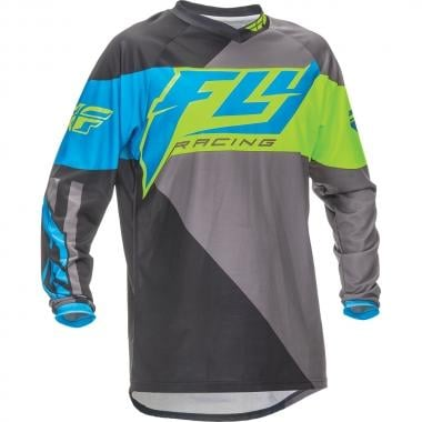 Maillot FLY RACING F-16 Niño Mangas largas Azul/Amarillo fluo