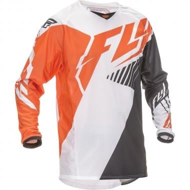 Maillot FLY RACING KINETIC VECTOR Enfant Manches Longues Orange/Blanc