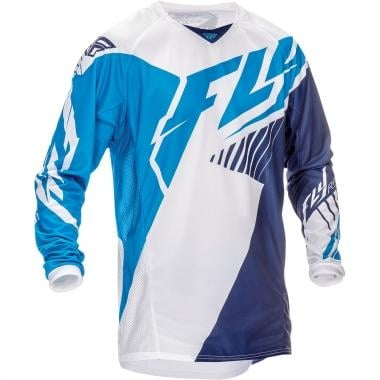 Maillot FLY RACING KINETIC VECTOR Niño Mangas largas Azul/Blanco 2016