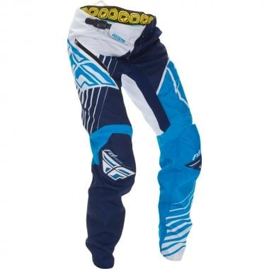 Pantalón FLY RACING KINETIC VECTOR Niño Azul/Blanco