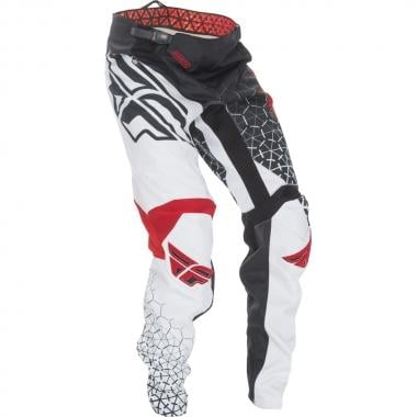 Pantalon FLY RACING KINETIC TRIFECTA Noir/Blanc/Rouge