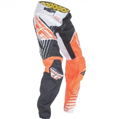 Pantalon FLY RACING KINETIC VECTOR Orange/Blanc