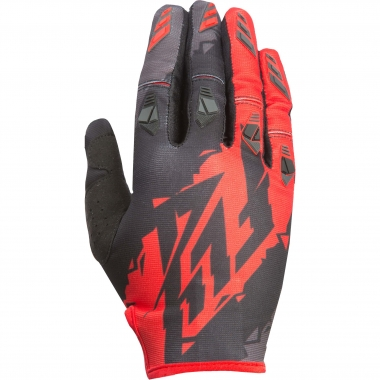 Gants FLY RACING KINETIC Noir/Rouge 2017
