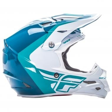 Casque FLY RACING F2 PURE Teal Blanc 2017