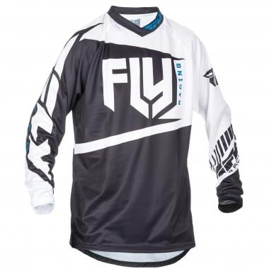 Maillot FLY RACING F-16 Mangas largas Negro/Blanco 2017