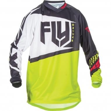 Maillot FLY RACING F-16 Mangas largas Verde Lima/Negro 2017