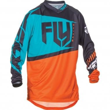 Maillot FLY RACING F-16 Enfant Manches Longues Orange/Teal 2017