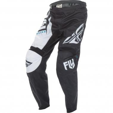 Pantalón FLY RACING F-16 Negro/Blanco 2017