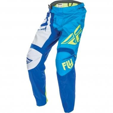 Pantalón FLY RACING F-16 Azul/Blanco 2017