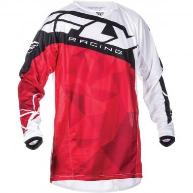 Maillot FLY RACING KINETIC CRUX Mangas largas Rojo/Blanco 2017