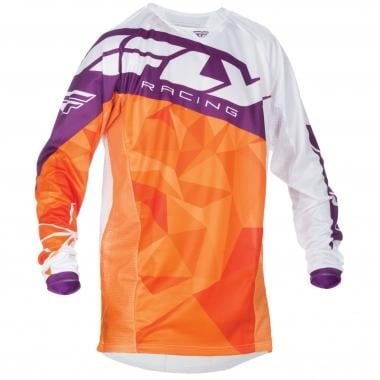 Maillot FLY RACING KINETIC CRUX Mangas largas Naranja/Burdeos 2017
