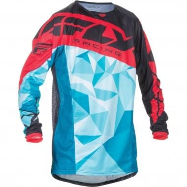 Maillot FLY RACING KINETIC CRUX Mangas largas Turquesa/Rojo 2017