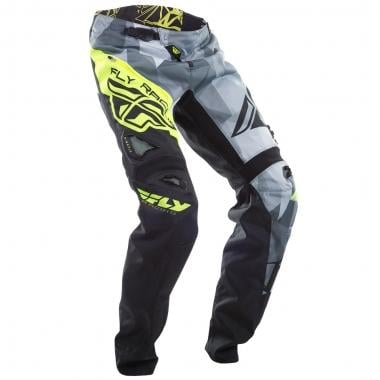 Pantalon FLY RACING KINETIC BICYCLE CRUX Noir/Jaune Fluo 2017