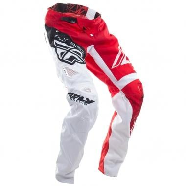 Pantalón FLY RACING KINETIC BICYCLE CRUX Rojo/Blanco 2017