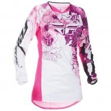 Maillot FLY RACING KINETIC Femme Manches Longues Rose/Violet 2017