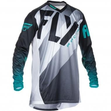 Maillot FLY RACING LITE HYDROGEN Manches Longues Noir/Blanc 2017