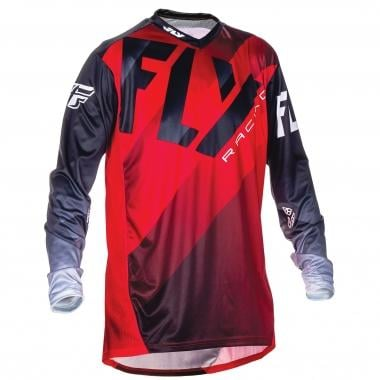 Maillot FLY RACING LITE HYDROGEN Manches Longues Rouge/Noir/Blanc 2017