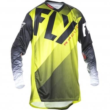 Maillot FLY RACING LITE HYDROGEN Manches Longues Vert Lime/Noir/Blanc 2017