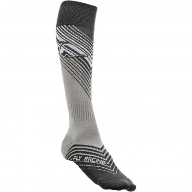 Chaussettes FLY RACING MX THIN Noir/Blanc 2019