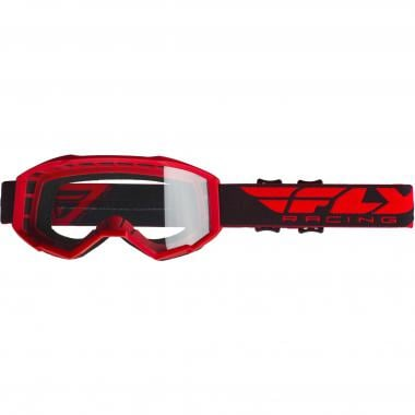 Masque FLY RACING FOCUS Rouge Écran Transparent 2019