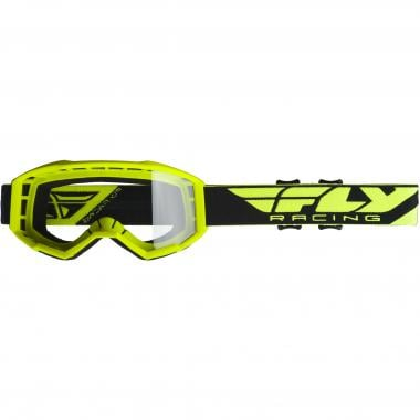 Masque FLY RACING FOCUS Jaune Fluo Écran Transparent