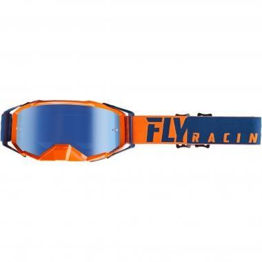 Masque FLY RACING ZONE PRO Bleu/Orange Écran Iridium
