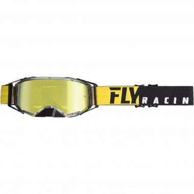 Masque FLY RACING ZONE PRO Noir/Jaune Écran Iridium 2019