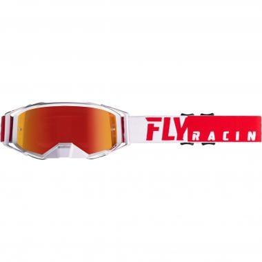 Masque FLY RACING ZONE PRO Rouge/Blanc Écran Iridium