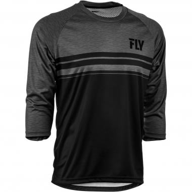Maillot FLY RACING RIPA Manches 3/4 Noir/Gris 2019
