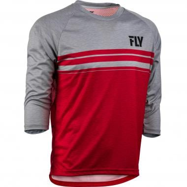 Maillot FLY RACING RIPA Manches 3/4 Rouge/Gris 2019