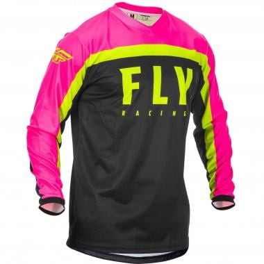 Maillot FLY RACING F-16 Enfant Manches Longues Noir/Rose 2020