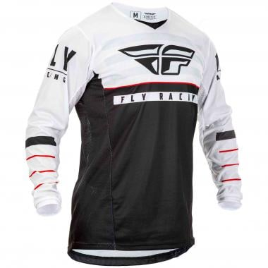Maillot FLY RACING KINETIC K120 Manches Longues Noir/Blanc 2020