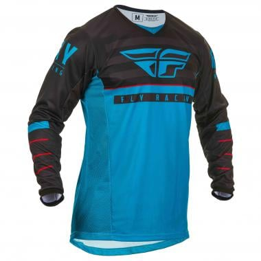 Maillot FLY RACING KINETIC K120 Manches Longues Bleu/Noir 2020