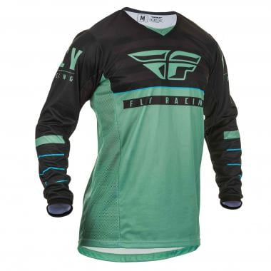 Maillot FLY RACING KINETIC K120 Manches Longues Vert/Noir 2020