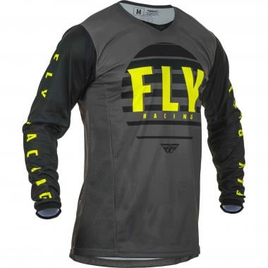 Maillot FLY RACING KINETIC K220 Manches Longues Noir/Gris 2020