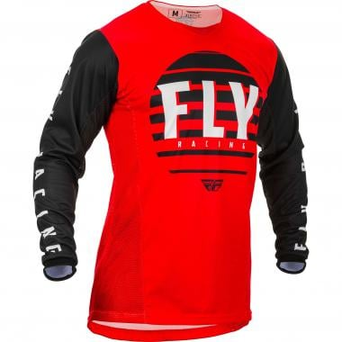 Maillot FLY RACING KINETIC K220 Manches Longues Noir/Rouge 2020