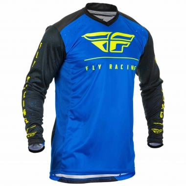 Maillot FLY RACING LITE HYDROGEN Manches Longues Bleu 2020