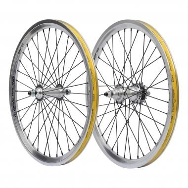 Paire de Roues GLOBAL RACING VECTOR PRO Argent