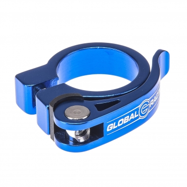 Collier de Selle GLOBAL RACING Serrage Rapide Bleu