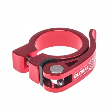 Collier de Selle GLOBAL RACING Serrage Rapide Rouge