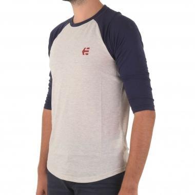 T-Shirt ETNIES BASELINE RAGLAN Maniche 3/4 Grigio/Blu 2016