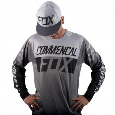 Maillot COMMENCAL DH by FOX Manches Longues Gris